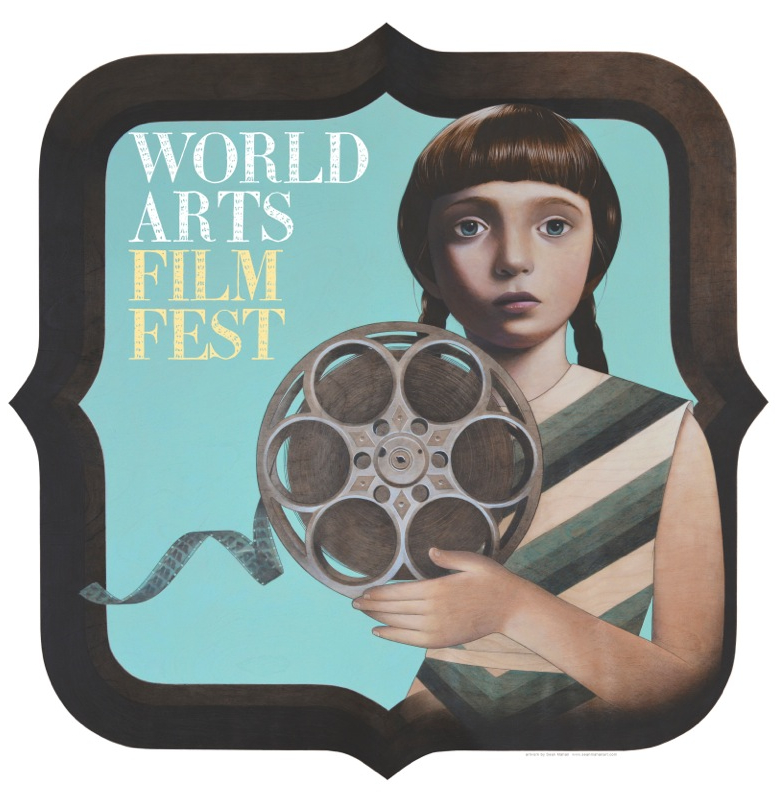 World Arts Film Festival logo by artist Sean Mahan