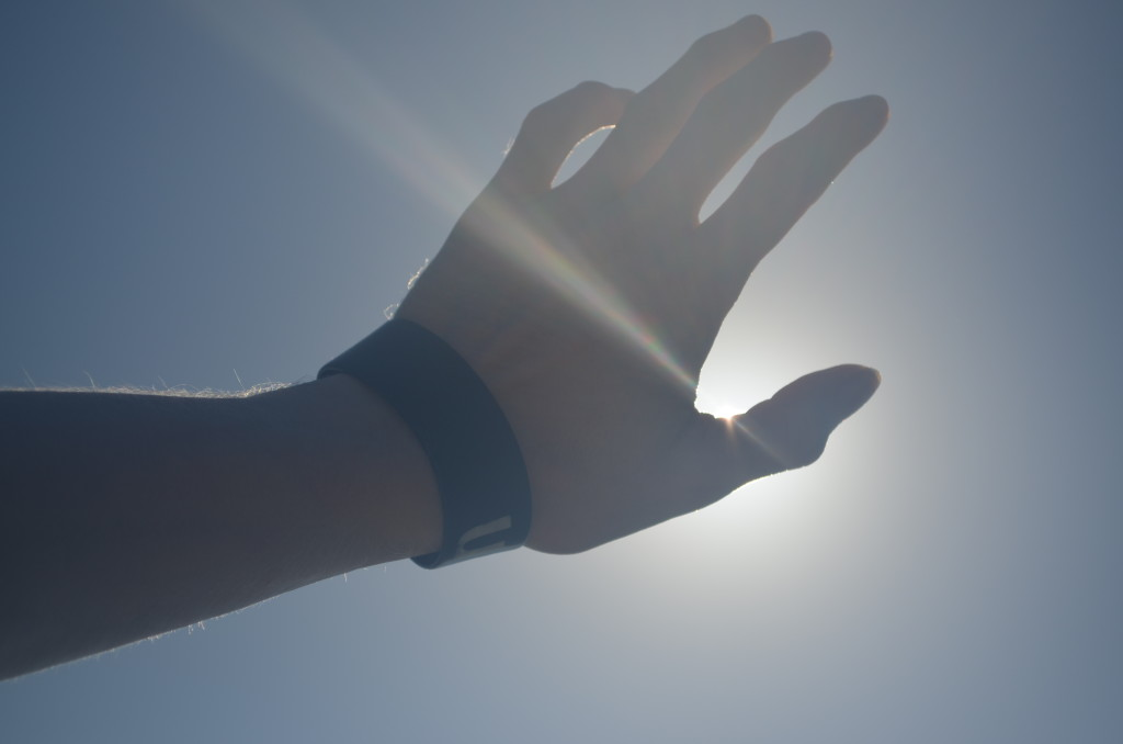 World Arts Education project 2015 Photo image of hand to the sun by student with low or no vision from Florida School for the Deaf and Blind.